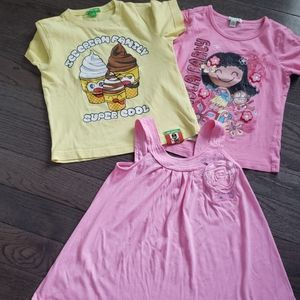 Little girl summer top and 1 short pant. Size 5/6